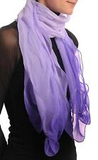 Lilac and Purple Double Layered Chiffon Ombre (SF000944)
