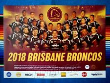 ✺New✺ 2018 BRISBANE BRONCOS NRL Poster - 42 x 29.5cm