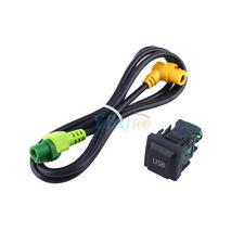 USB Switch Cable 100cm Harness For RCD510 RNS315 VW Golf MK6 Jetta MK5 Sagitar