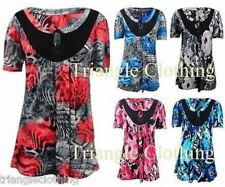 Floral Scoop Neck Tops & Shirts Size Petite for Women