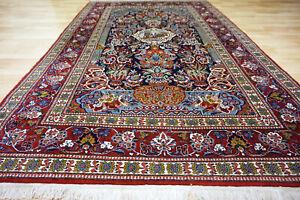 Schöner alter feiner Bilder Keschan Kork 240x147cm Orient Teppich 5046 Täbris
