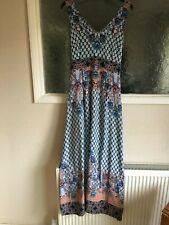 Ladies Blue Mix Maxi Dress by Warehouse Size 16