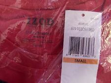 IZOD RESORT RED Saltwater WASH Pocket T-Shirt Logo on Pocket 100% Cotton SMALL