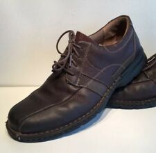CLARKS Brown Leather Lace Up Oxfords Mens Size 12 M