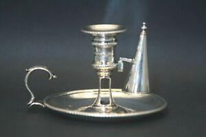 Antique Rare 18thc English Sterling Silver Chamberstick Candlestick John Wakelin