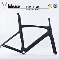 Aero Racing Carbon Fiber Road Bicycle Frames 700C OEM Cycling Bike Frameset PF30