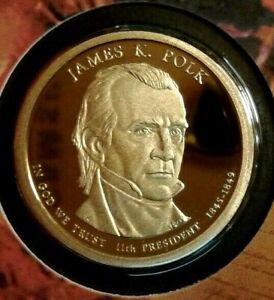 2009 -S  James K. Polk Proof  D/.Cam  Presidential  Dollar  Beautiful Coin