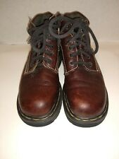 Dr Doc Martens Brown Work Hiking Ankle Boots 9271 England US 6, Chunky 4 Eye