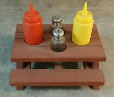 Picnic Table Shaped Condiment Holder