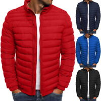 Men's Puffer Bubble Down Jacket Padded Outwear Coat Bomber Ultralight Quilted