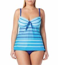 BEACH HOUSE® Plus Size 16W Ombre Stripe 2-Pc Tankini Swimsuit NWT $120