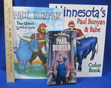 The Ballad Of Paul Bunyan Movie VHS Tape Coloring Book & Story Book Lot of 3