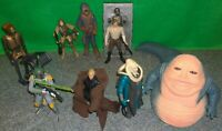 Star Wars ROTJ Jabba The Hutt's Palace Lot - Boba Fett Boushh EV-9D9 Luke - USED