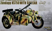 GREAT WALL HOBBY - GERMAN MOTORCYCLE ZUNDAPP KS750 WITH SIDECAR 1/35