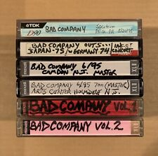Bad Company Cassette Tape Lot Rock Music