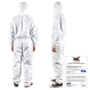 PPE Protective Suit Reusable zippered Full Protection Coveralls Isolation Washab