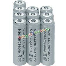 10x AA battery batteries Bulk Nickel Hydride Rechargeable NI-MH 3000mAh 1.2V Gra