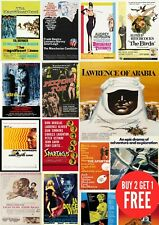 1960's Classic Retro Vintage, Many Movie Posters A0-A1-A2-A3-A4-A5-A6-MAXI C454