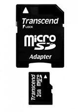 2GB Transcend microSD Memory Card with SD adapter