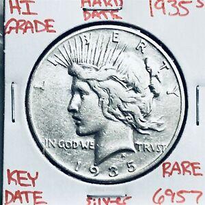 1935 S PEACE SILVER DOLLAR HI GRADE U.S. MINT RARE KEY COIN 6957