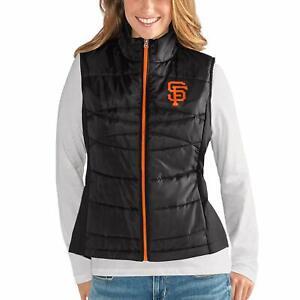 G-III 4her San Francisco Giants Women's Wing Back Jacket Vest - Black