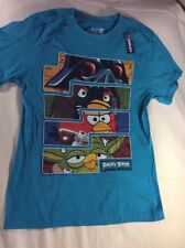 ANGRY BIRDS Star Wars T Shirt OLD NAVY ~ Teal ~ Kids Large (10-12)