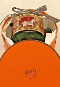 HERMES RED Printed Enamel Wide 70 CUFF Bracelet including original box