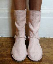 Original UGG Heilroom Pink Boucle Lace Up Back Boots EU 41 UK 8,5 US 10