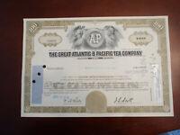 A & P ATLANTIC PACIFIC TEA CO 100 STOCK CERTIFICATE 1976