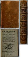 F/ NOUVEL ABRÉGÉ CHRONOLOGIQUE DE L'HISTOIRE DE FRANCE Prault 1744 belle reliure