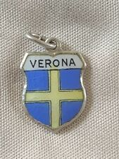 VERONA Silver Travel Shield Enamel Charm