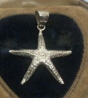 Vintage Sterling Silver Necklace 925 Pendant Starfish