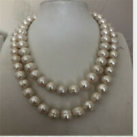 """11-12mm south sea baroque white pearl necklace 38"""" 14k Cultured Chic Luxury"""