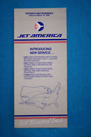 Jet America System Timetable March 18, 1985