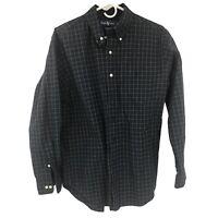 Polo Ralph Lauren Button Down Blue Green Plaid Shirt Mens Size 16 - 32/33