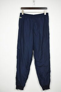 LACOSTE Men's 4 or ~MEDIUM Thin Dark Blue Zip Bottoms Sports Trousers 38030_GS