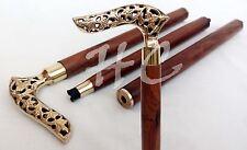 Vintage Walking Stick Messing Designer Griff Gehstock Victorian Spazierstock