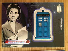 Topps Doctor Who 2015 Purple Tardis Patch Card Barbara Wright 01/99