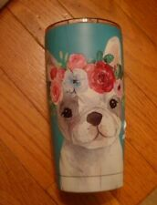 New Clementine Turquoise Blue Frenchie Tumbler