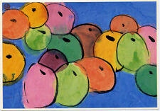 Walasse Ting•Do You Like To Bite a Green Apple•Chinese Art Postcard 4x6