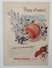 Original Print Ad 1955 A&P TEXACO Plenty of Action Beach Ball Dalmatians