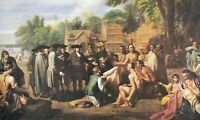 "Ca.1960's ""Penn's Treaty"" by Benjamin West Art Postcard - 2111"