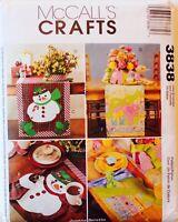 McCalls Christmas Holiday Crafts Sewing Pattern ~ UC/FF Vintage/OOP ~ U PICK!