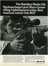 1971 MARLIN 336 Deer Rifle Lever Action Vintage Ad