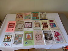 16 Assorted Art & Craft Projects Some Doll / Some Quilt Pattern Designs