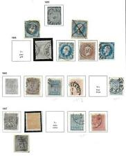 Norway stamps 1855 Collection of 16 CLASSIC stamps CANC VF HIGH VALUE!