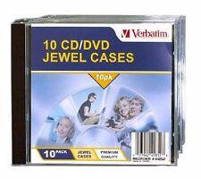 ($0 p&h) Verbatim Quality CD Jewel Cases Pack of 10 P/N 41852