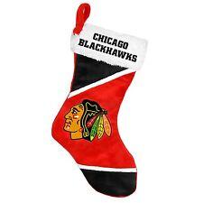 "Chicago Blackhawks Holiday 17"" Christmas Stocking NHL! Team Logo New for 2014"