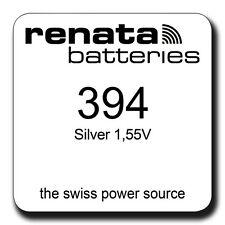 RENATA 394 SR936SW 1.55v WATCH BATTERY/CELL UK FREEPOST. PRICE FOR 2 BATTERIES