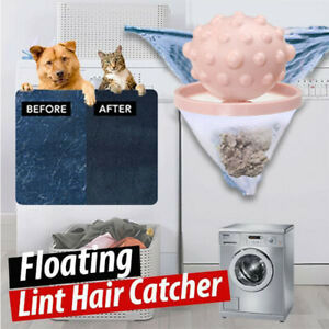 Floating Lint Hair Catcher Washing Machine Hair Ball Suction Hair Remover AA